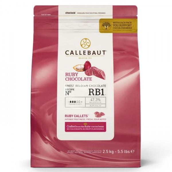 Schokodrops Ruby 2,5kg - Callebaut Callets