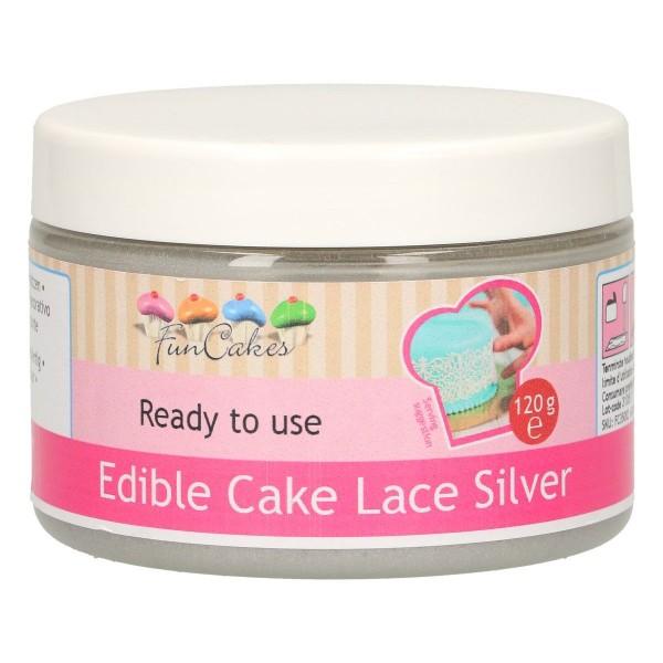Edible Cake Lace Silver 120g