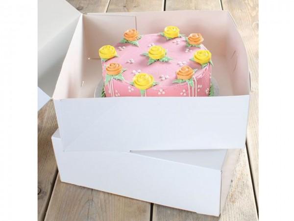 Tortenbox Blanco 32 x 32 x 11,5cm 2Stück
