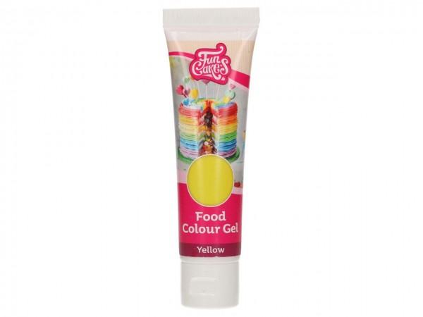 Edible FunColours Gel - Yellow 30g - FunCakes