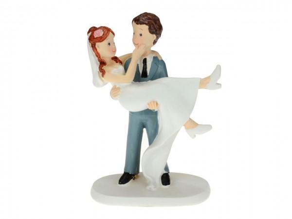 Tortenaufsatz Brautpaar tragend