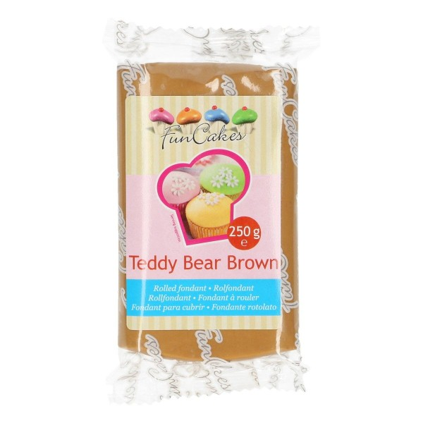 FunCakes Rollfondant Teddy Bear Brown 250gr