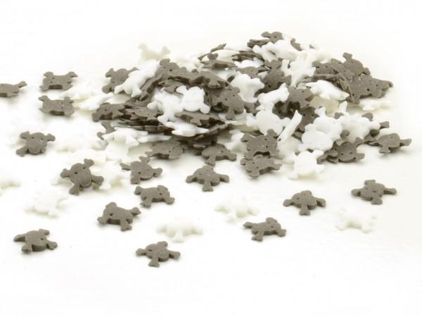 Streudekor Totenköpfe schwarz-weiß 40g