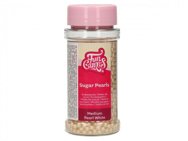 Zuckerperlen Perlmutt Weiss