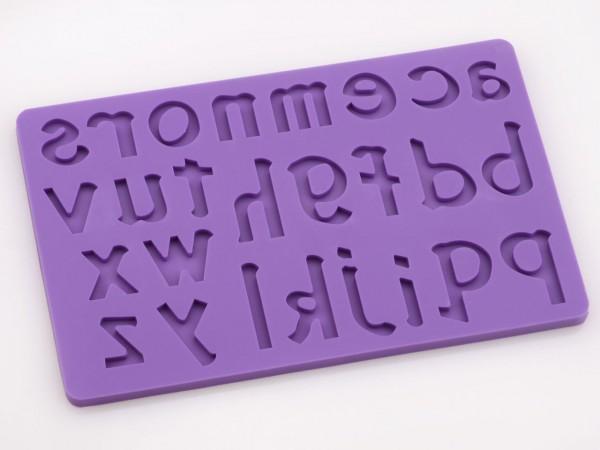 Buchstaben klein a-z Silikonform