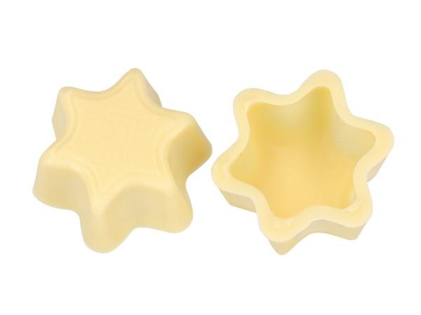 Sternschalen Hohlkörper Weiß - Folie je 56 Stück