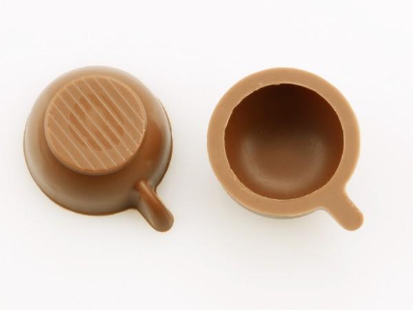 Tassen-Schalen Hohlkörper Vollmilch - Folie je 54 Stück