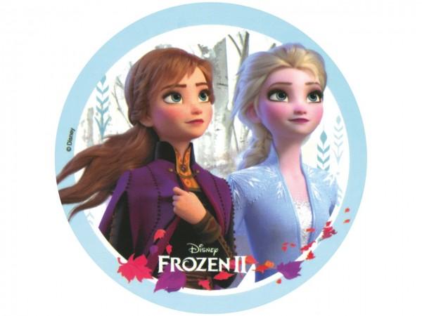 Tortenaufleger Frozen II Anna und Elsa rund 20cm