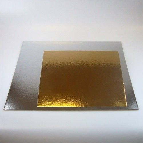 Cake Card Gold/Silber Quadrat