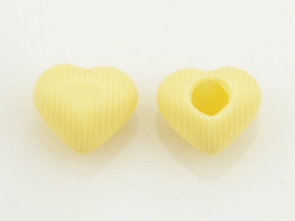 Mini Herz-Hohlkörper Weiß - Folie je 63 Stück