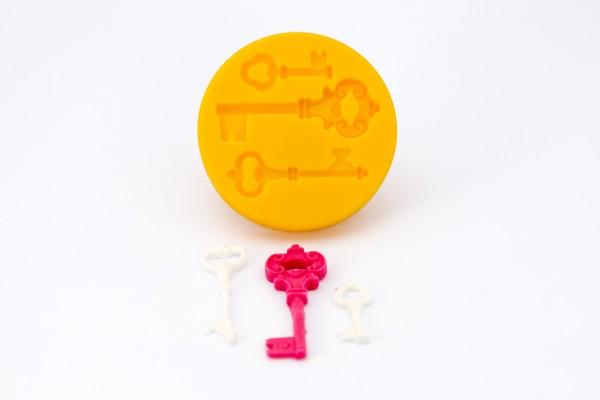 dekofee Silikonform Schlüssel (3 Schlüssel)