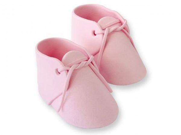 Zuckerdeko Baby Schuhe rosa 1Paar
