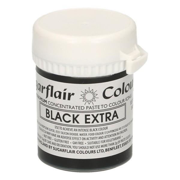 Sugarflair - Pastenfarbe Max - Black Extra 42g