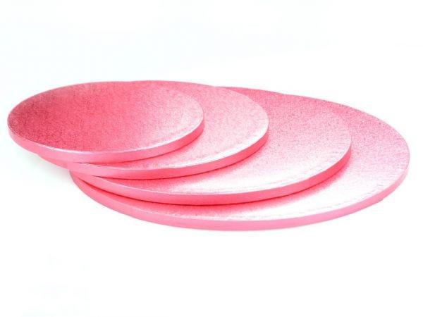 Pinke Kuchenplatte 12mm Rund Ø 25cm