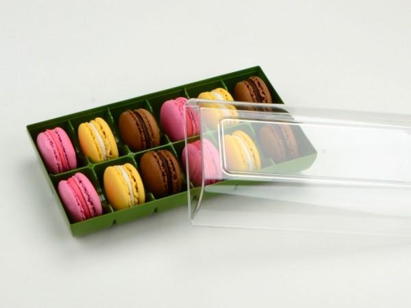 Macaron Verpackung Grün 12er