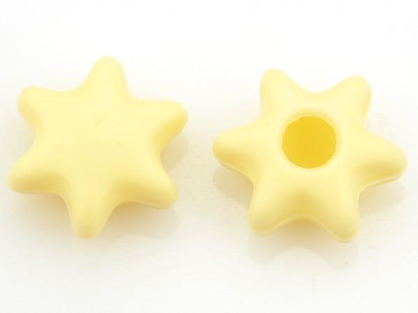Stern Hohlkörper Weiß - Folie je 42 Stück