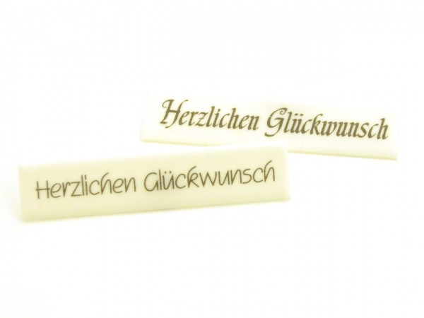 Dekoraufleger Herzlichen Glückwunsch 18mm 4 Stk