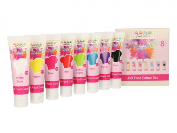 Edible FunColours Gel - Set 8tlg - FunCakesEdible FunColours Gel - Set 8tlg - FunCakes