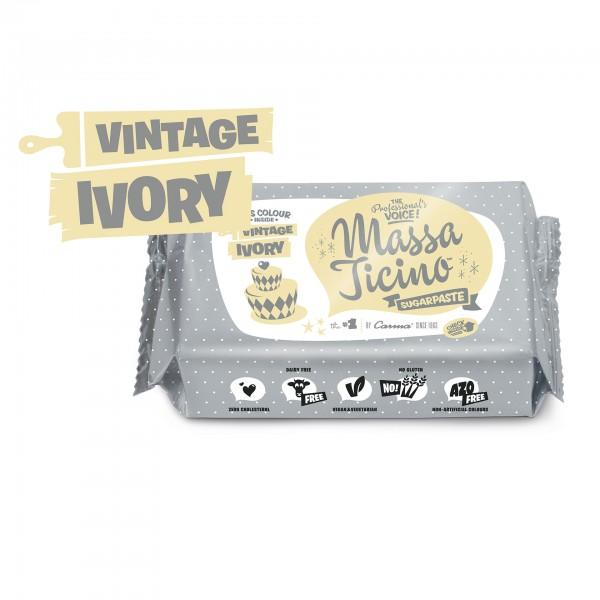 Vintage Ivory Fondant Massa Ticino Tropic - 250g