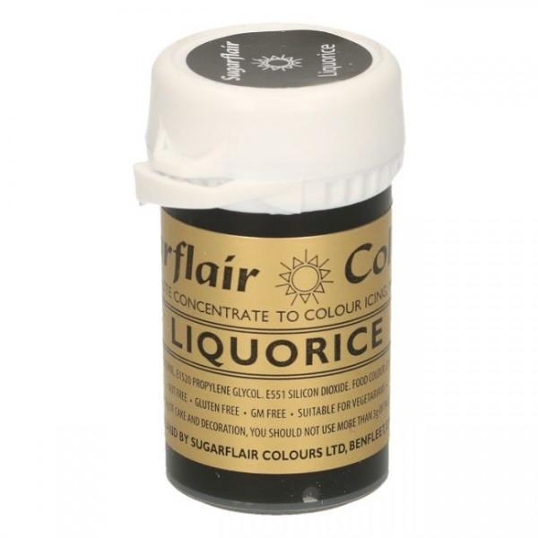 Sugarflair - Pastenfarbe - Liquorice/Black 25g