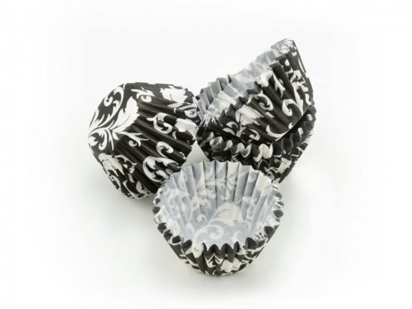 Pralinenförmchen 25mm schwarz/weiß 100 Stück