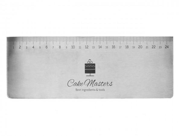 Teigkarte Edelstahl 25cm mit Skalierung