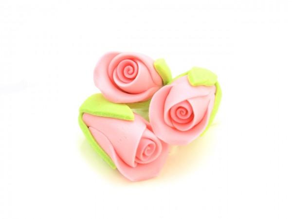 Zucker-Rosenknospen rosa 3 Stk