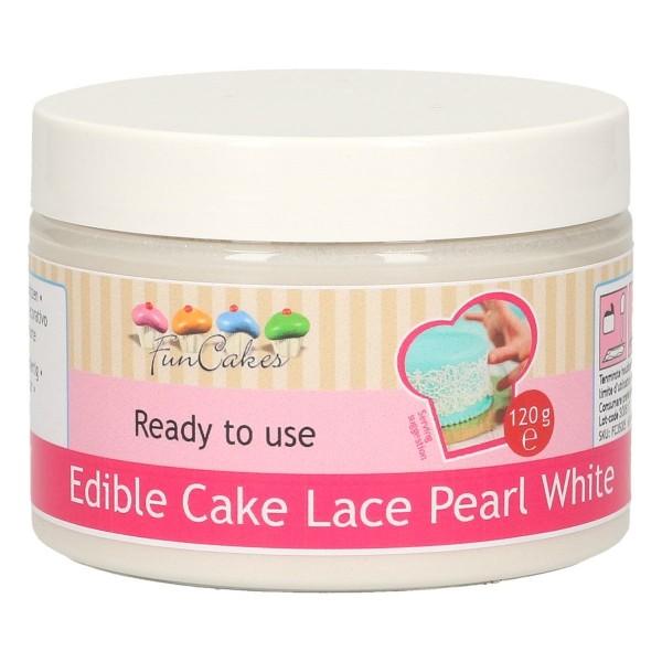 Edible Cake Lace Pearl White 120g