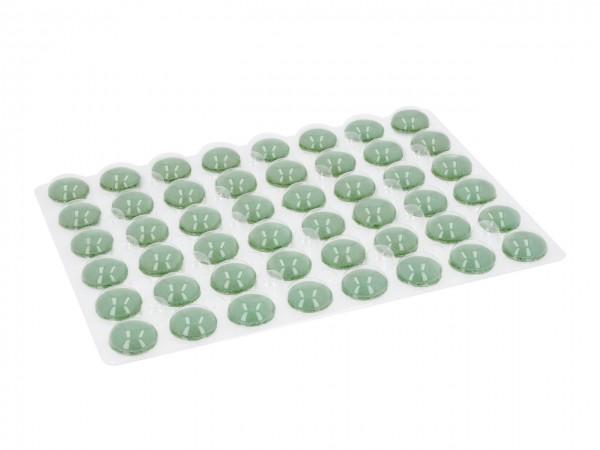 Macaron-Halbschalen 48 Stück grün