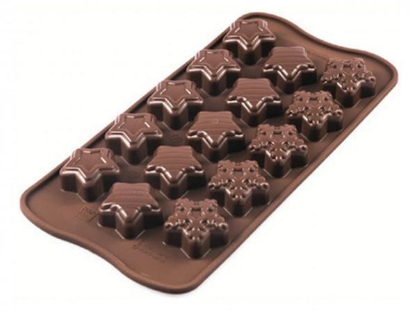 Schokoladenform Winter Stars Silikon