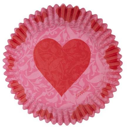 Wilton Pink Damask Valentine - 75 Stk