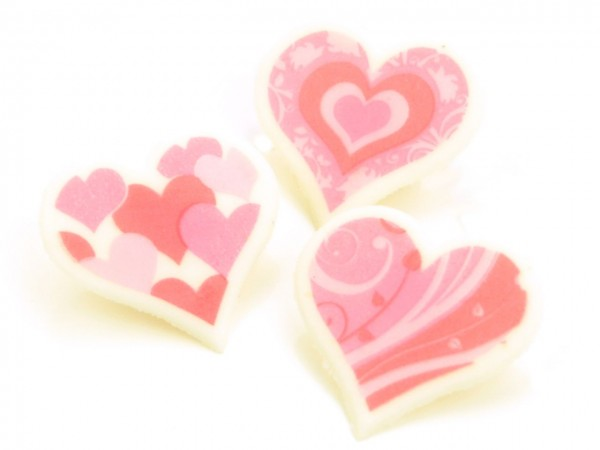 Dekoraufleger Herzen 10 Stk