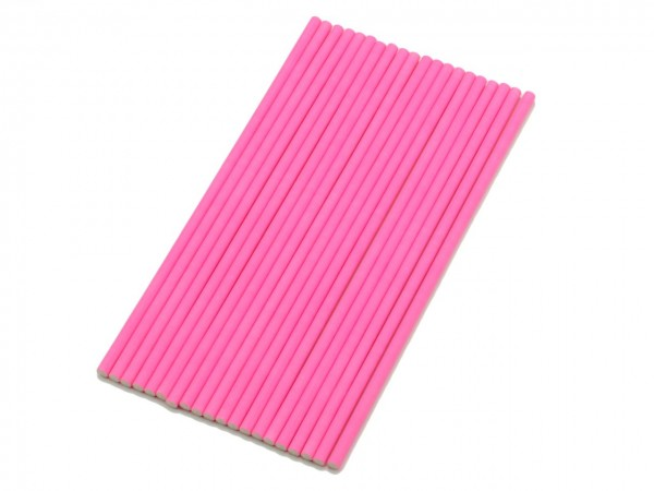 Cake Pop Sticks 15cm (Papier, 20 Stück) pink