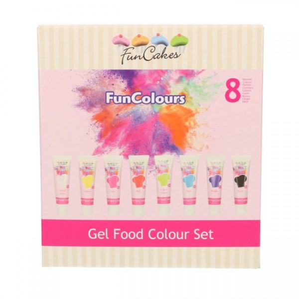 FunCakes Edible FunColours Gel - Set 8tlg