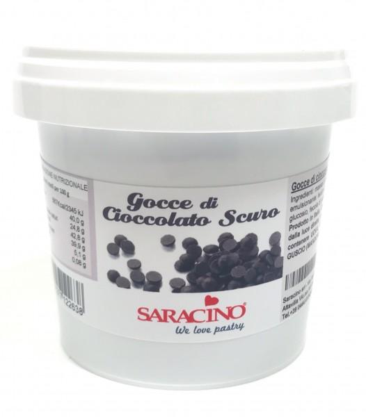Schokodrops Dunkle Schokolade 250g - Saracino