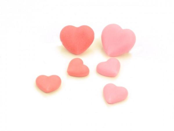 Zuckerdekor Herzen rosa-rot 20 Stk