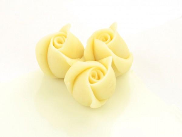 Marzipan-Rosen klein weiß 4 Stk