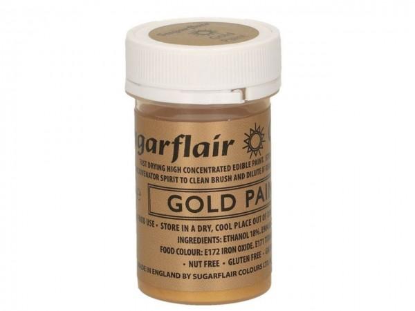 Sugarflair - Lebensmittelfarbe - matt gold 20g