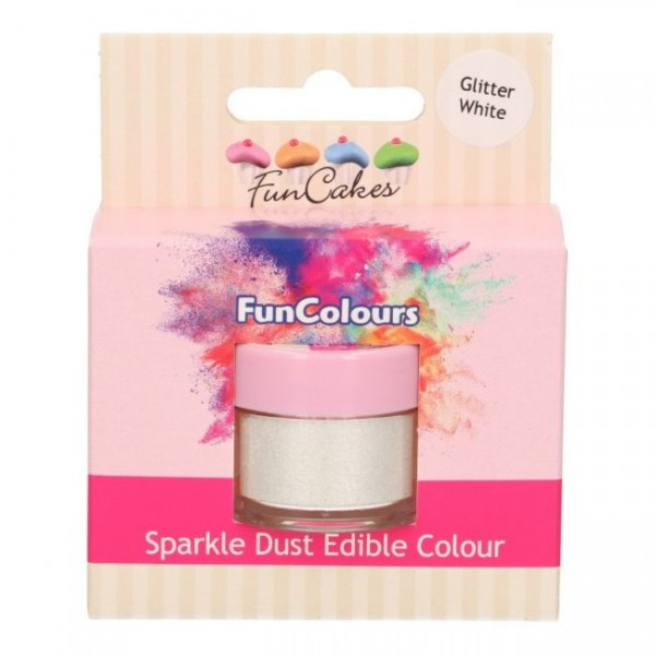 FunCakes Edible FunColours Sparkle Dust - Glitter White