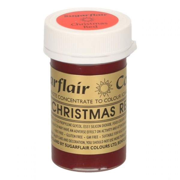 Sugarflair - Pastenfarbe - Christmas Red 25g