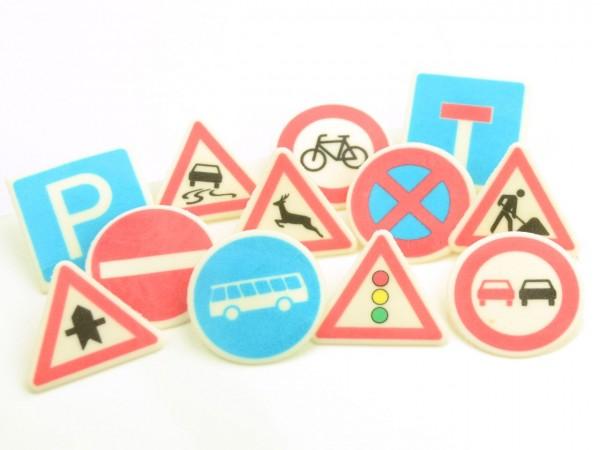Dekoraufleger Verkehrszeichen 12 Stk