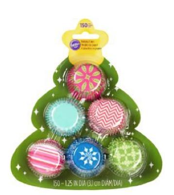 Cupcakeförmchen Muffinförmchen bunt weihnachten