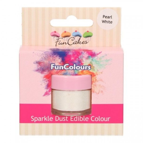 FunCakes Edible FunColours Sparkle Dust - Pearl White