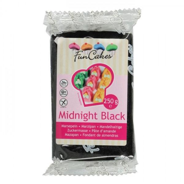 Midnight Black Marzipan ähnliche Zuckermasse