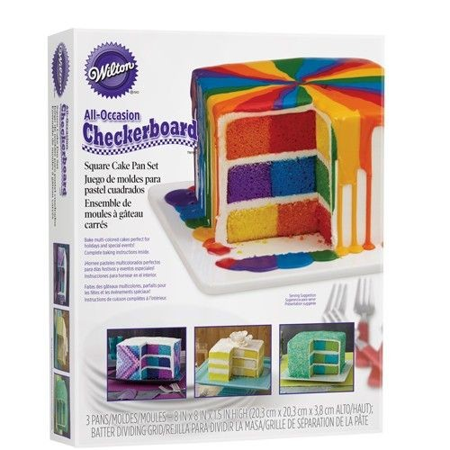 Wilton Checkerboard Square Cake Set_1