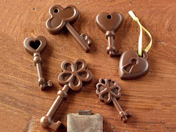 Schokoladenform Schlüssel Silikonform