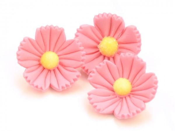 Zuckerdekor Blumen rosa 16 Stk 30mm