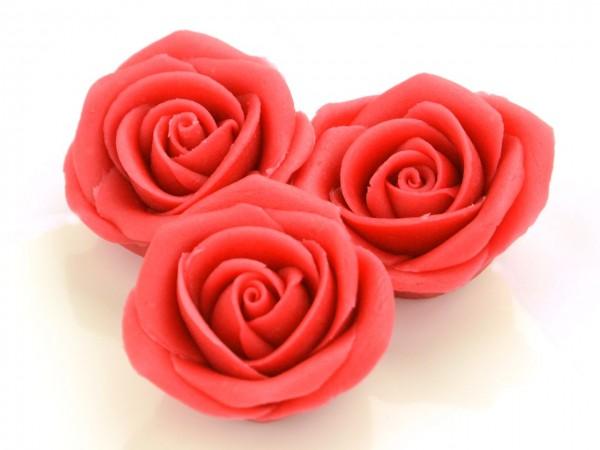 Marzipan-Rosen groß rot 2 Stk