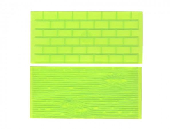 Steinmauer/Holz Silikonform