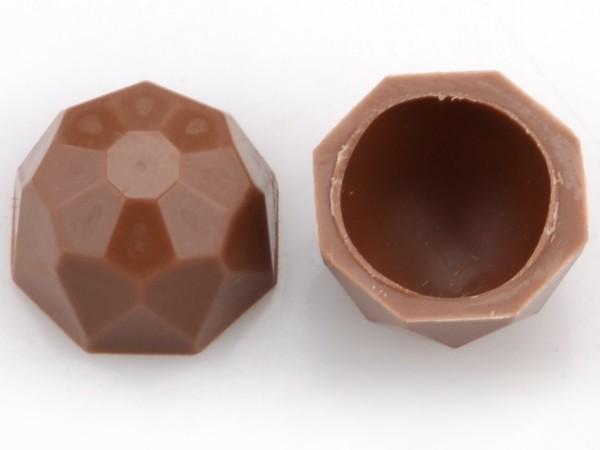 Diamanten-Schalen Hohlkörper Vollmilch - Folie je 63 Stück